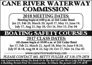 Cane River Waterway meetings